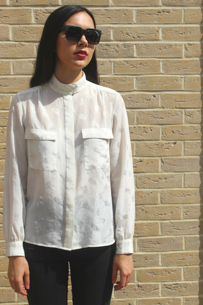 Image of FAB-TO-WEAR 80's Vintage Sheer Blouse