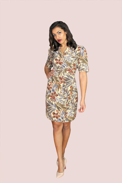 Image of Vintage 90's Floral Wrap Dress FAB-TO-WEAR