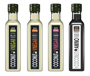 ORGANIC COCONUT AMINO AND VINEGARS