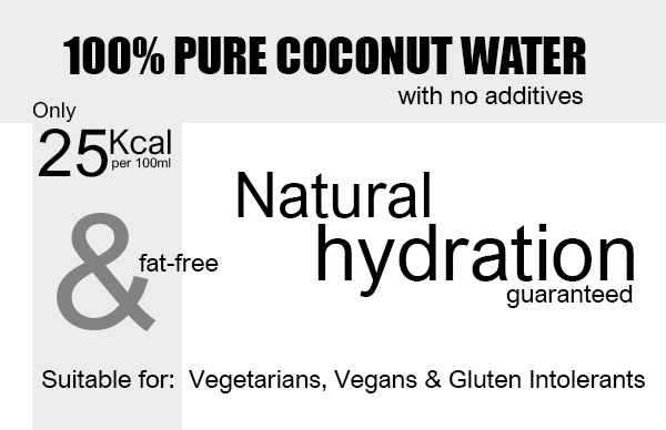 100% Coconut Water 500ml x 12 Units