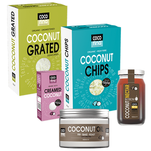 Baking Pack - Desiccated or Grated Coconut, Coconut Chips, Creamed Coconut, Coconut Oil, Coconut Nectar
