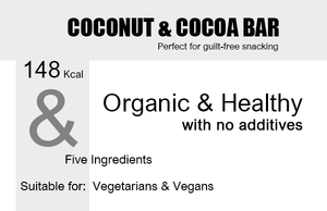 Organic Coconut & Cocoa Snack Bar Product Highlights