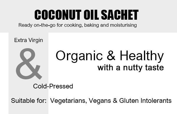 Organic Coconut Oil 10ml Sachet x 36 Units