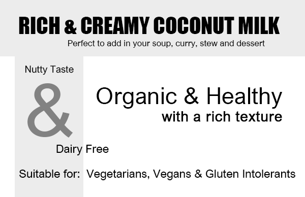 Organic Coconut Milk Rich & Creamy - 240ml Product Highlights