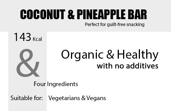 Organic Coconut & Pineapple Snack Bar Product Highlights