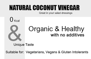 Organic Coconut Vinegar 250ml Natural Product Highlights