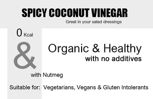 Organic Coconut Vinegar 250ml Nutmeg Product Highlights