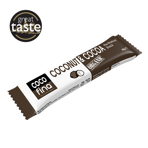 Organic Coconut & Cocoa Snack Bar x 12 Units