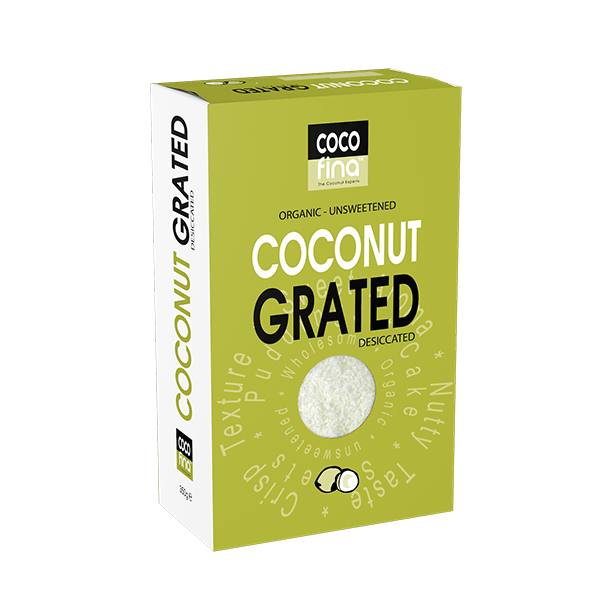 Organic Desiccated or Grated Coconut 350g Box
