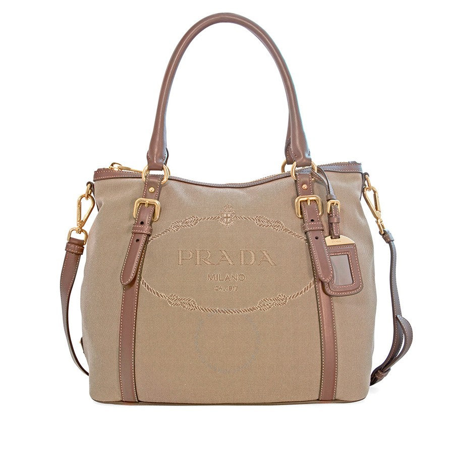 ... Prada Canvas and Soft Leather Shoulder Bag - Rope Burned hot sale  online aa48e c45f5 . ... 5161a24e4af52