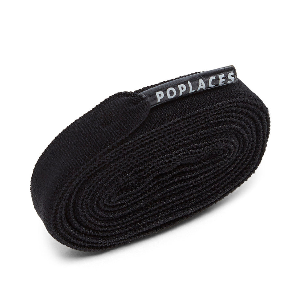 Black Poplaces | Stretchy 'Tie Once' Shoe Laces