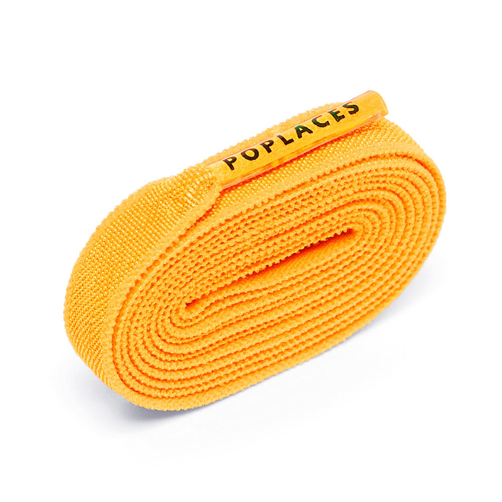Orange Poplaces | Stretchy 'Tie Once' Shoe Laces