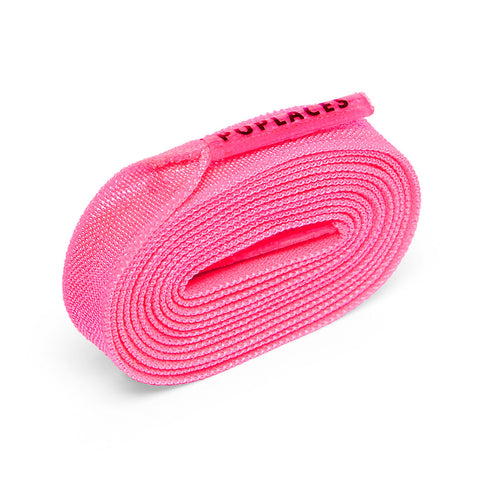 Neon Pink Poplaces | Stretchy 'Tie Once' Shoe Laces