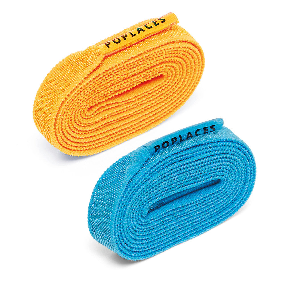 Bright Blue & Orange Poplaces Twin Pack | Shoe Laces