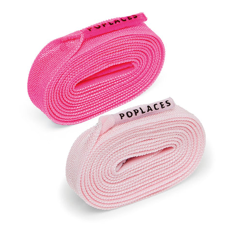 Baby Pink & Neon Pink Poplaces Twin Pack | Shoe Laces