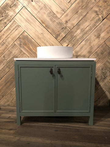 Vanity Unit & Concrete Sink Set - Ex Display
