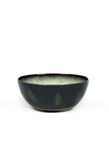 Terres de Reves Pudding Bowl - Misty Grey / Dark Blue