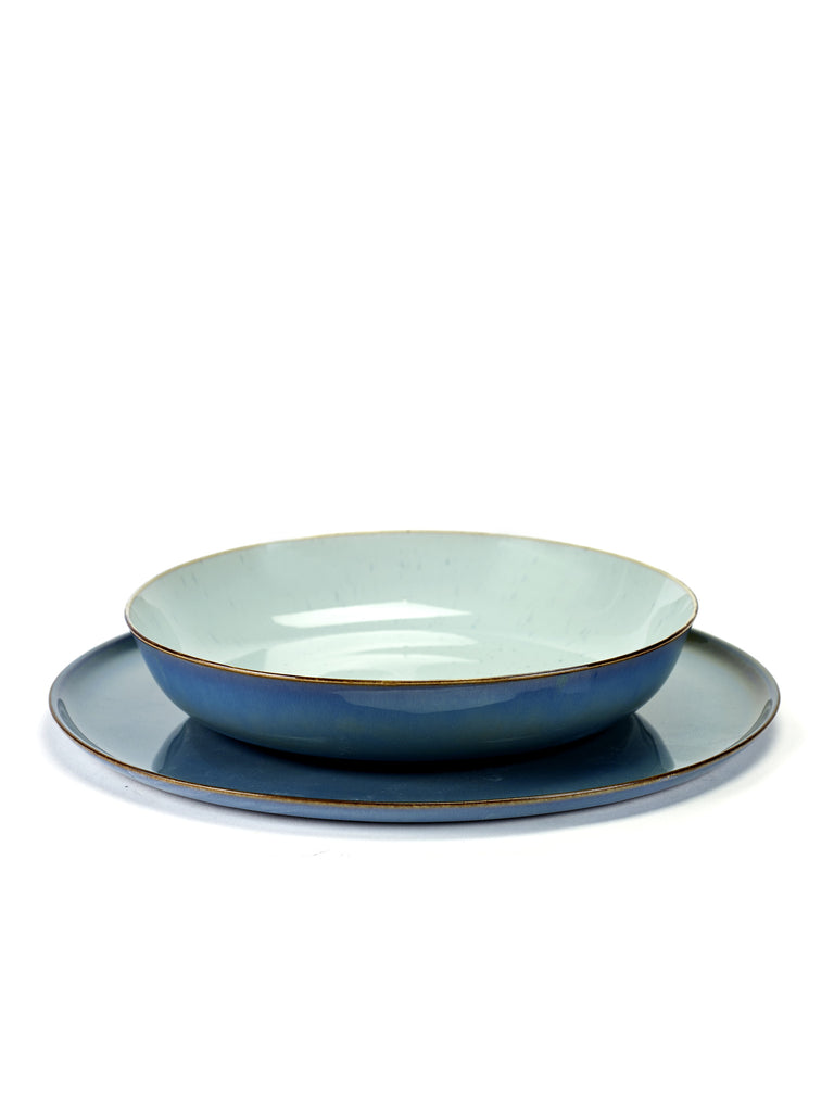Terres de Reves Large Plate - Dark Blue