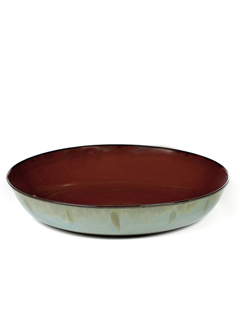 Terres de Reves Pasta Bowl - Rust / Smokey Blue