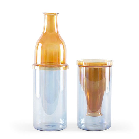 SUNSET VASE - HIGH AMBER / BLUE