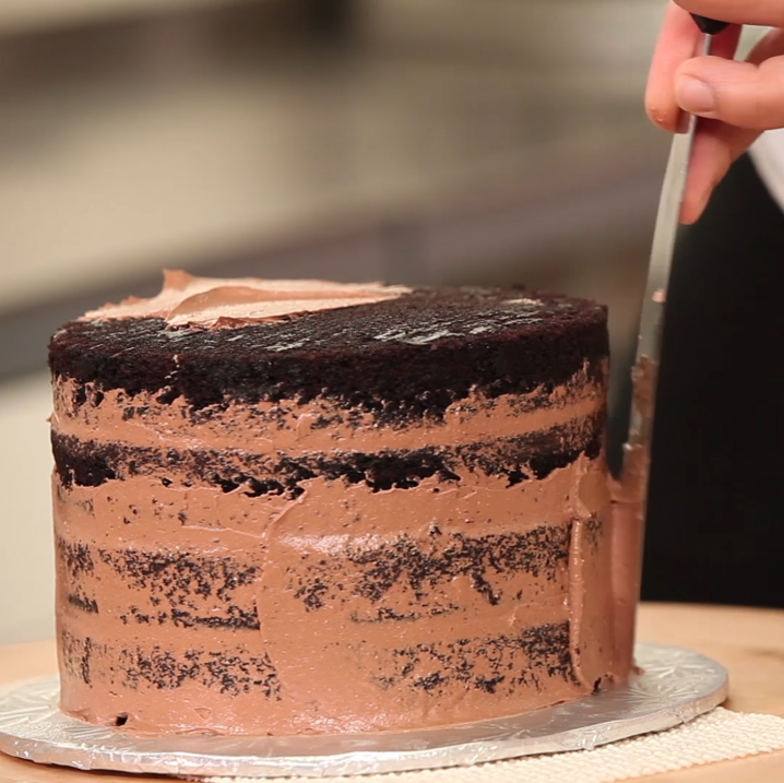 3 Layer Cake Icing: Yo's Sprinkle Pressed Chocolate Cake