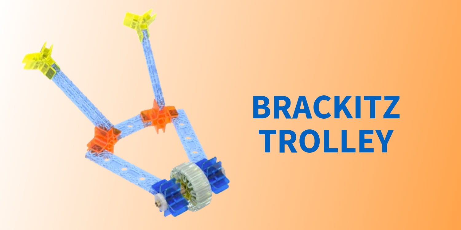 image of Brackitz building toy trolley