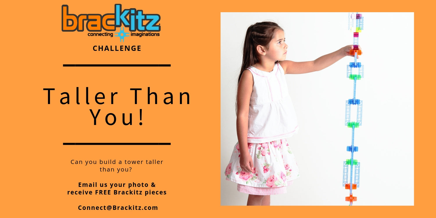 Build a tower taller than you with Brackitz sets.