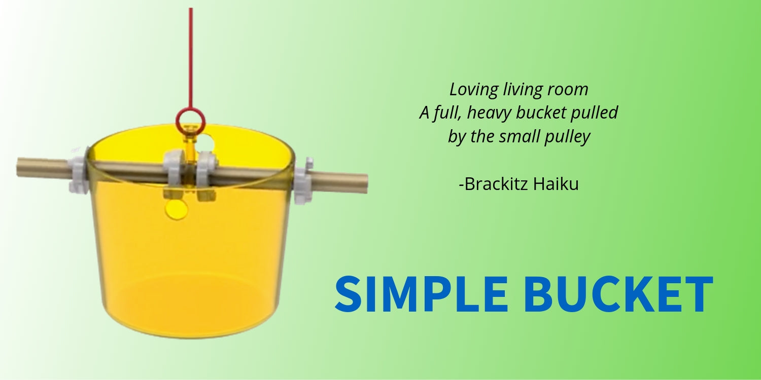 Brackitzz simple pulley bucket hero image with Haiku