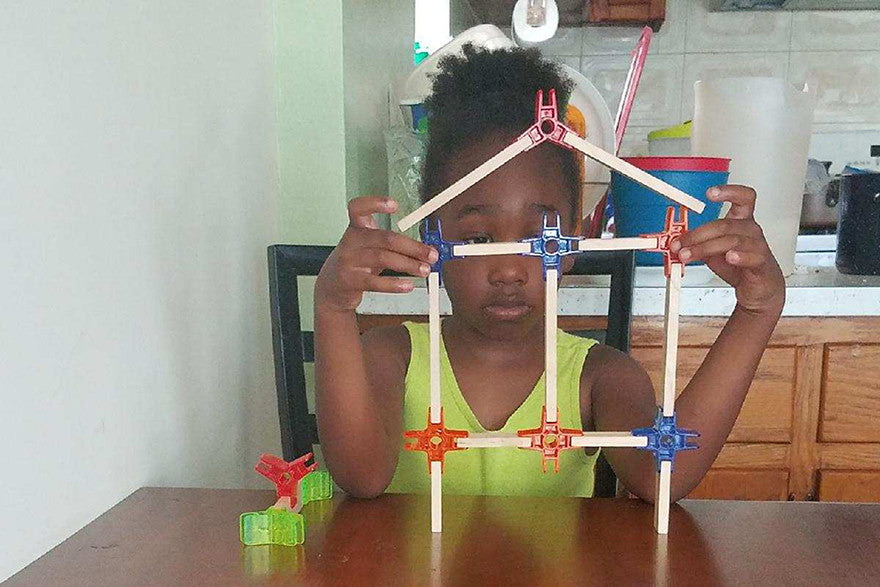 Shareese Davidson working on her solar powered house
