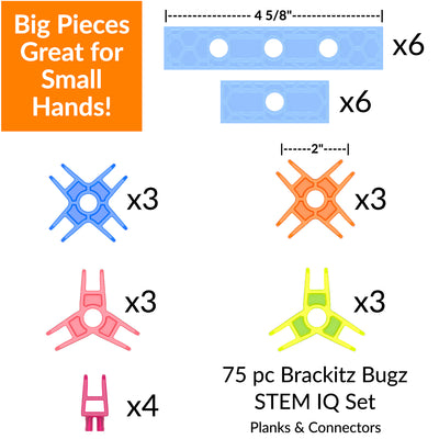 piece maap of brackitz building toy 75 piece set