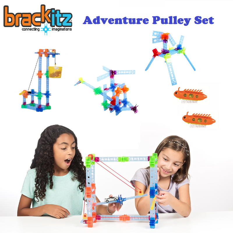 173 pc Brackitz Adventure Pulley Building Set - Brackitz