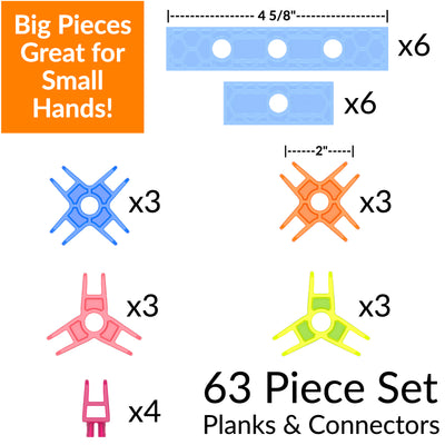 Construction Driving STEM Building 63-Piece Set
