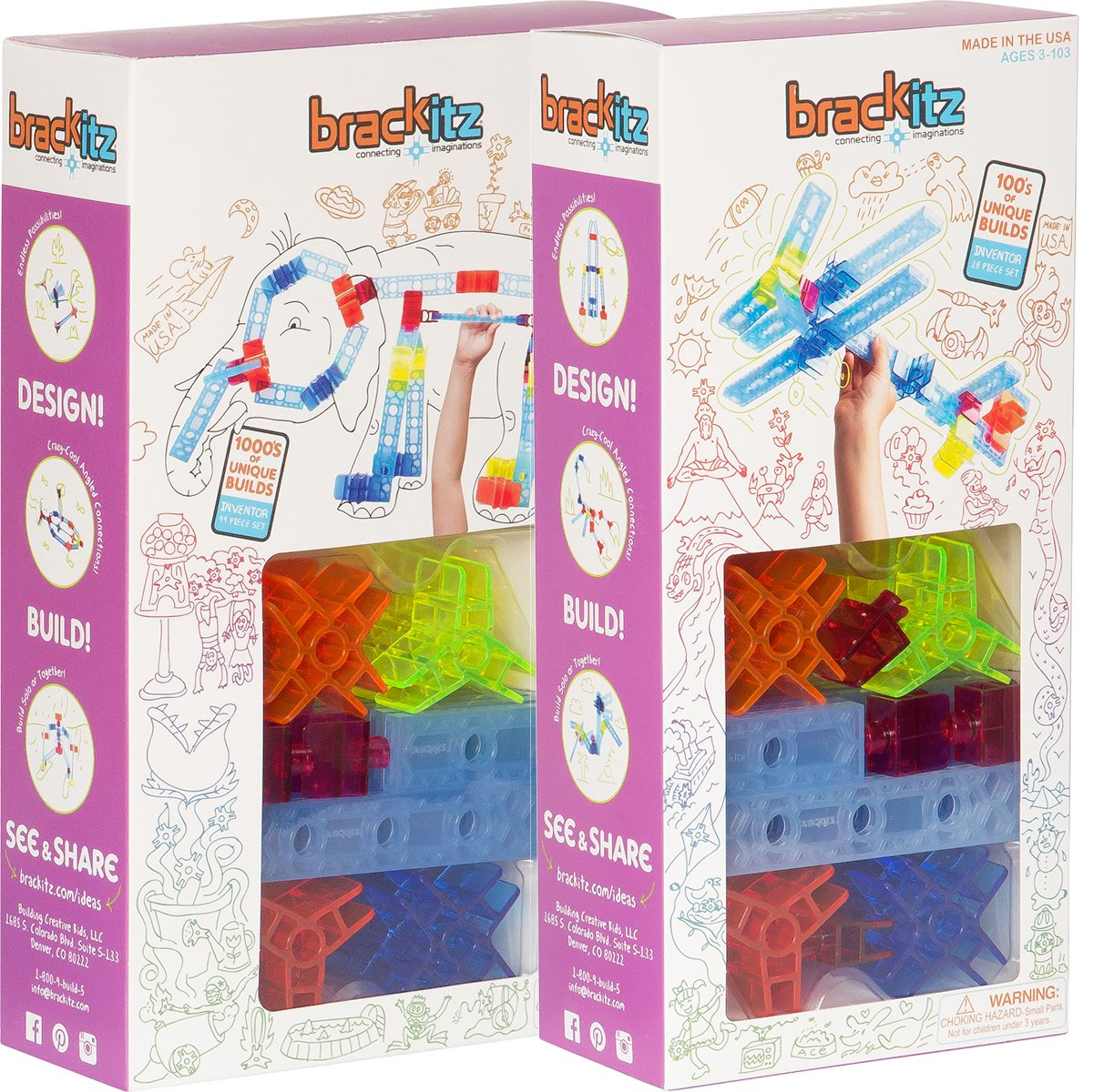 72 pc Brackitz STEM Learning Toy - Brackitz