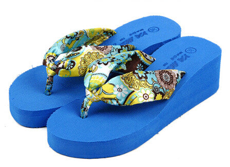 Summer Bohemia flower Women flip flops