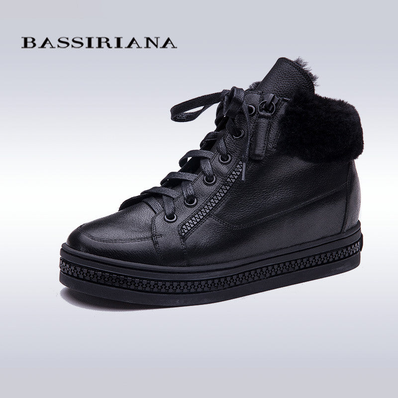 BASSIRIANA Oxfords Lace-Up Casual Ladies Flat
