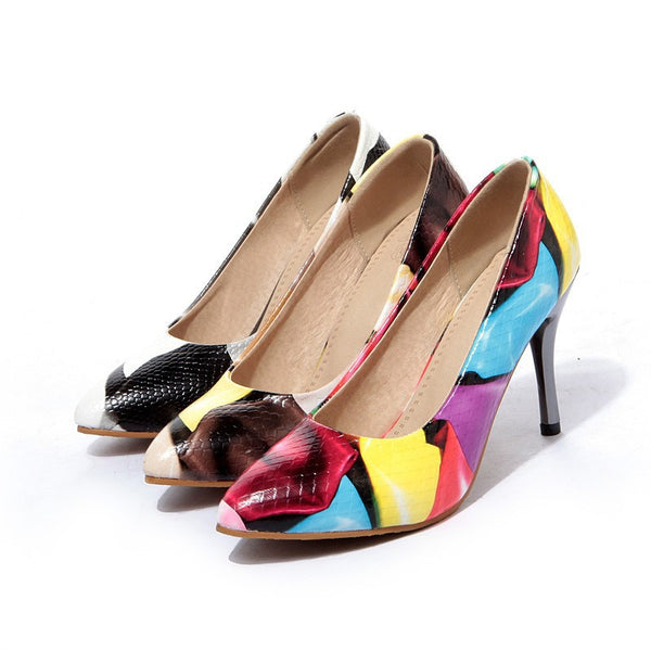 Spring & Autumn  Women Office Pointed Toe High heel Pumps-3 colors