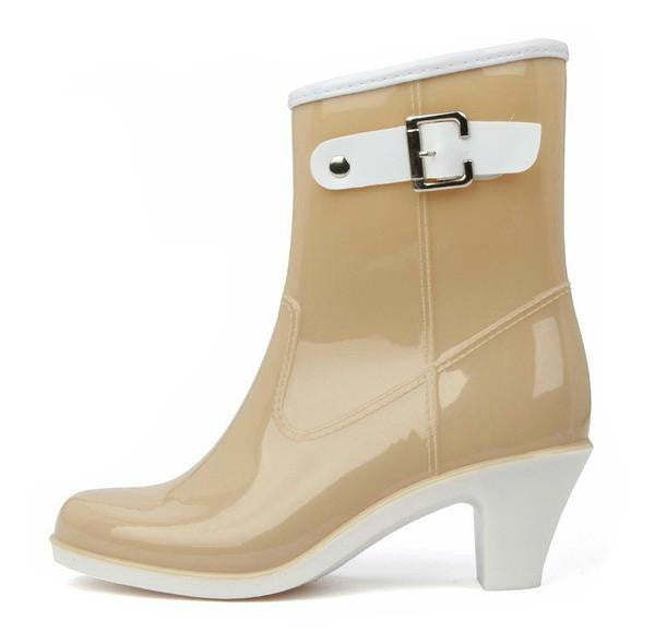 60's Style Waterproof Ankle Rain boots