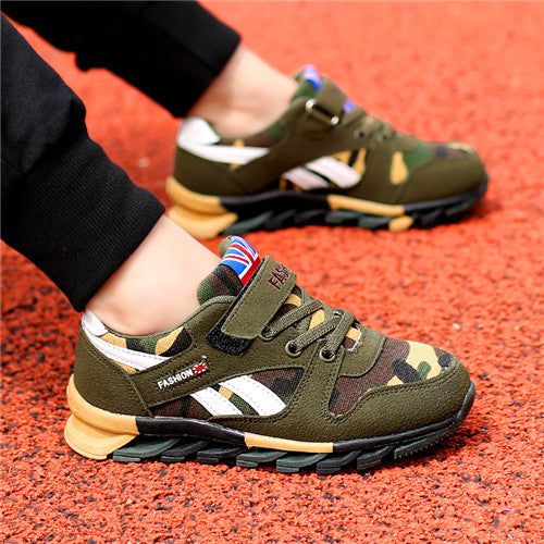 Kids Shoes Boys Shoes Chaussure Enfant EUR 26-39 Camouflage Outsole Children High Quality Sneakers For Boys Girls Autumn/Winter