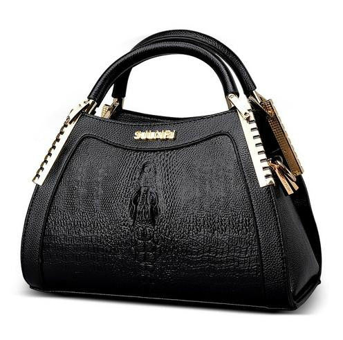 Luxury Designer Vintage Crocodile Pattern Messenger Tote Bag