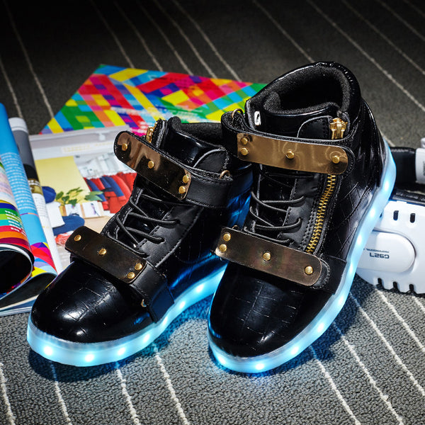 New Kids Cool USB Charging LED Light Sports Antiskid Bottom Sneakers
