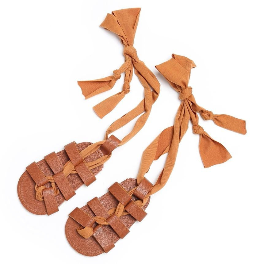 Newborn Bandage Cross-tied summer shoes baby first walker shoes