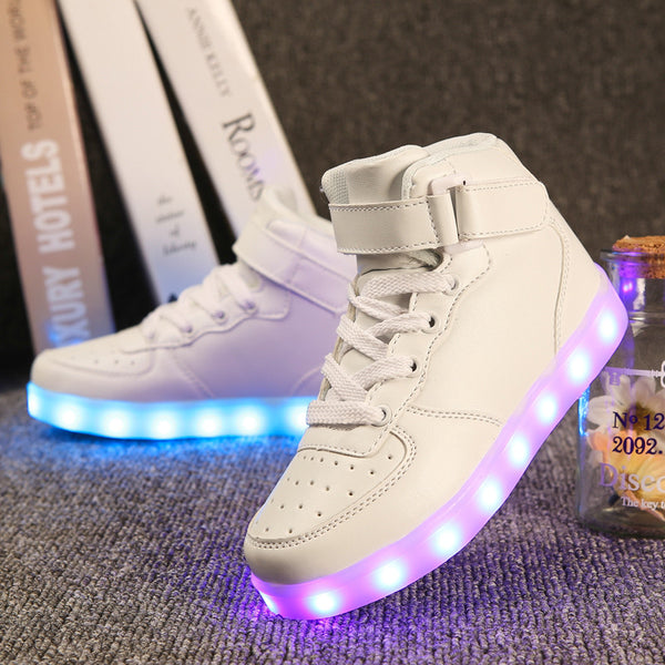 LED High Top Glowing Sneakers