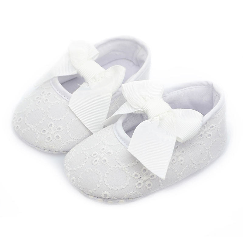 Fashion Baby Girl Shoes Butterfly-knot First Sole Shoe's