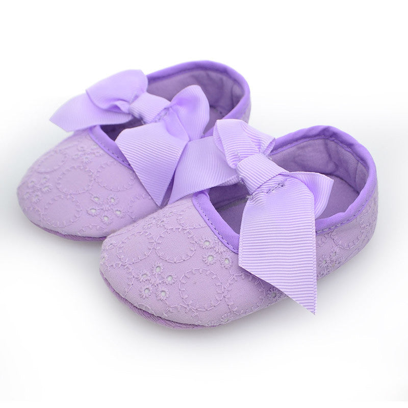 Fashion Baby Girl Shoes Butterfly-knot First Sole Shoe's - TUFOR JAYS