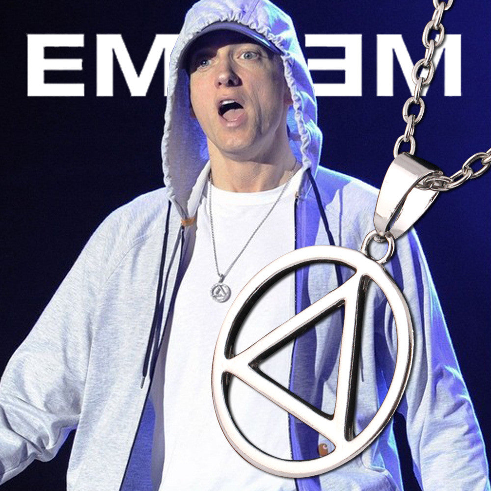 Eminem Best RAPPER Grammy Titanium Steel Chain Pendant( 2 Pendants 1 Gold Color & 1 Silver)