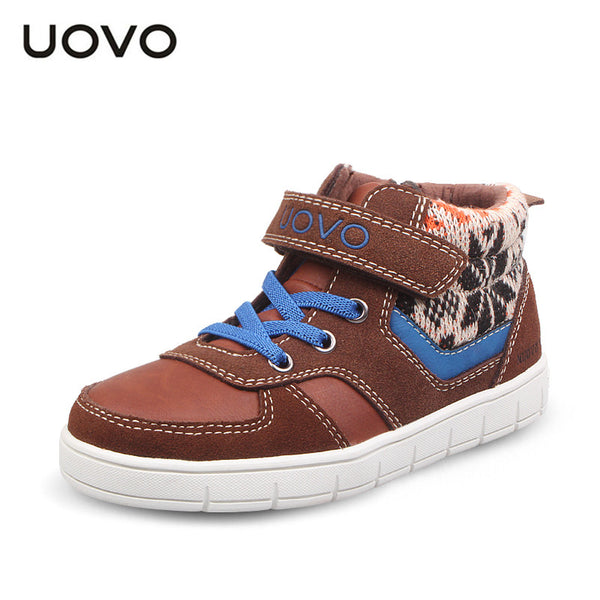 Fashion knitting wool kids Autumn flat sneakers