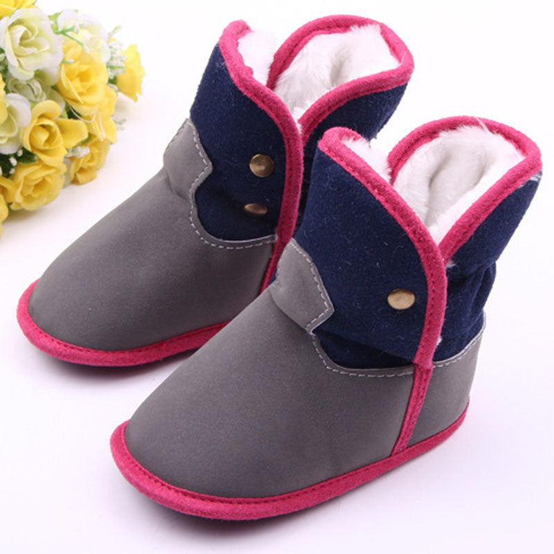 Baby Soft Plush Lining Baby Girl Shoes