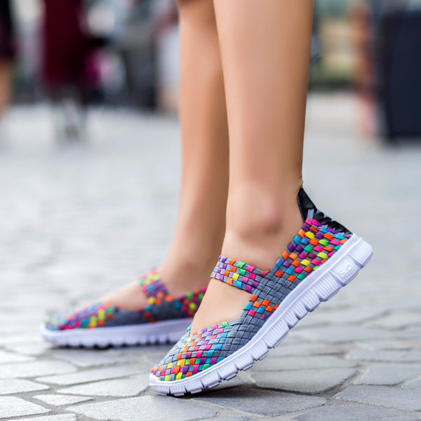 Women Casual Handmade Woven Fashion Comfortable Light Weight  Shoes