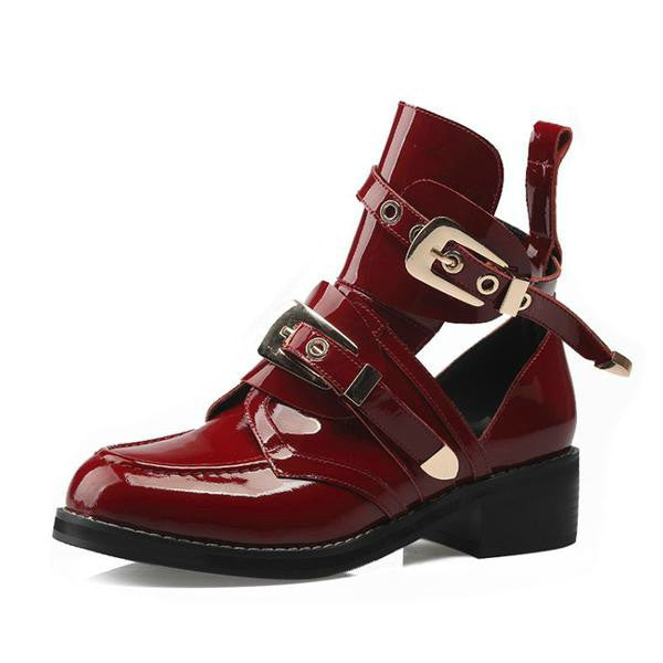 Metal Buckle Style Top Fashion Martin Boots