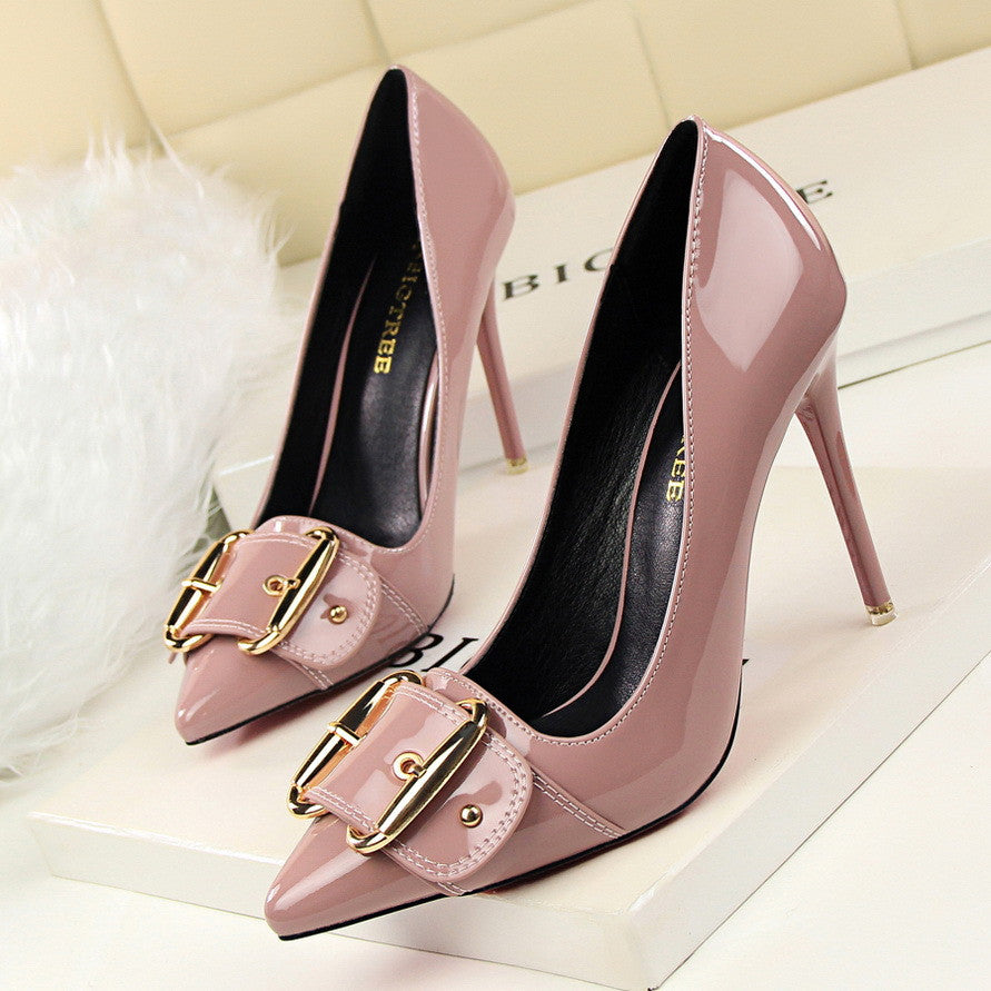 Elegant Buckle Pointed Toe Stiletto Pump's